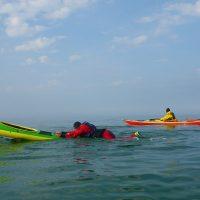 Seekajak Rügen Ostsee Wiedereinstieg Rettungstechniken
