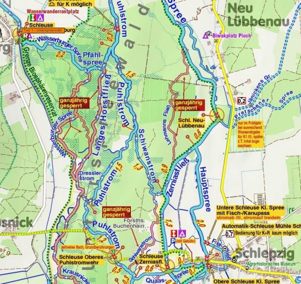 Wasserwanderkarte Biosphäre Unterspreewald - outdoorVAGABUNDEN