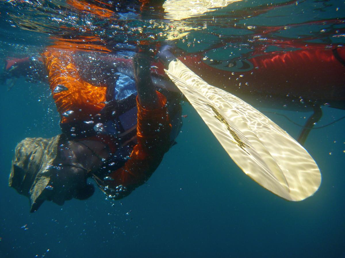Rolle mit Blick zur Unterwasserwelt Mexiko Baja California Sea Cortez - outdoorVAGABUNDEN