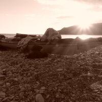 Seekajak Reise Kreta Sonnenuntergang