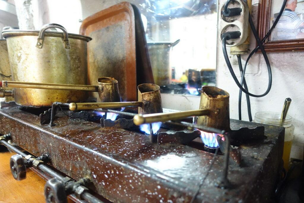 Südküste Kreta, griechischer Kaffee Seekajakreise outdoorVAGABUNDEN