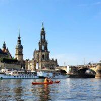 Kajakreise - Elbe - Dresden Altstadt - outdoorVAGABUNDEN