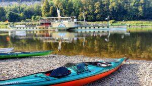 Kanutour Elbe Sächsiche Schweiz outdoorVAGABUNDEN