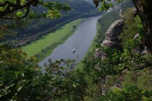 Kanutour Elbe Bastei Sächsiche Schweiz outdoorVAGABUNDEN